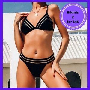 Black Cutout Swimsuit Bikini